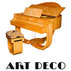 Explore Art Deco pianos