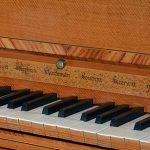 Kirckman harpsichord nameboard