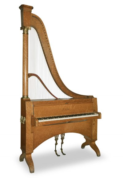 Harp Piano by Dietz, Paris, ca. 1865