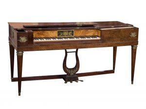 Frey square piano, piano carre Frey, antique square piano
