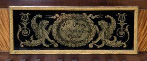Antique Square Piano, Frey square piano, piano carre