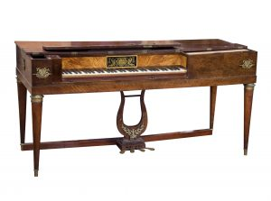 Antique square piano, antique piano, Frey pianoforte